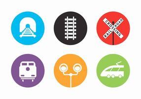 Elementi di vettore della ferrovia