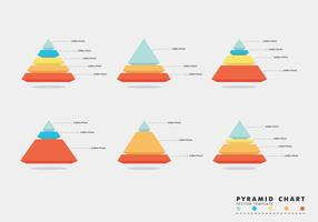 Grafici a piramide vettoriali gratis