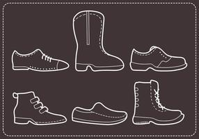 Vettori delle scarpe degli uomini cuciti