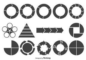 Forme del grafico assortite vettore