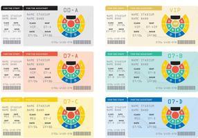 Biglietti per i concerti vettoriali