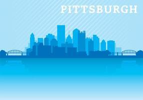 Vettore dell'orizzonte di Pittsburgh