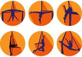 Vettori di silhouette di ginnastica