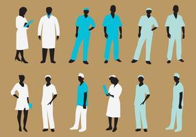 silhouette infermiera vettoriale