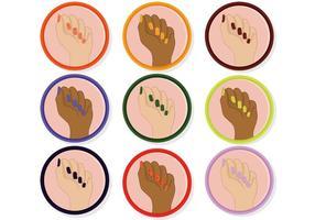 Vettori di manicure