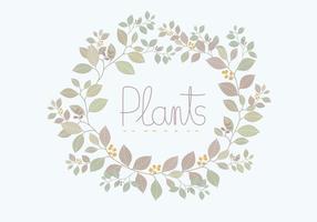 Corona di piante vettoriali