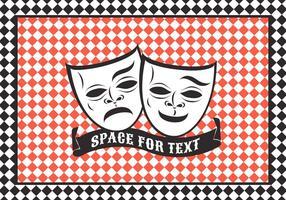 Maschera del teatro di commedia e tragedia di vettore