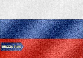 Vettore libero della bandiera della Russia del denim