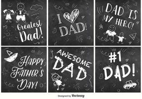 Segni della lavagna di festa del papà felice