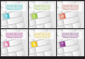 Sfondi di caratteri della tastiera vettore