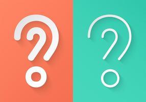 Punti interrogativi del libro bianco di vettore