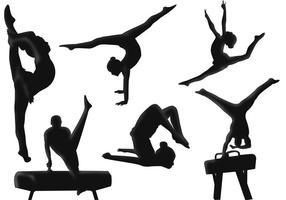 Vettori di ginnastica