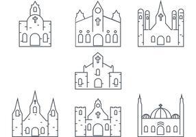 Vector Chiesa di contorno