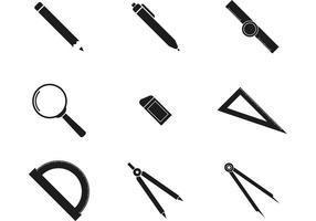 bw icone di architettura vettore
