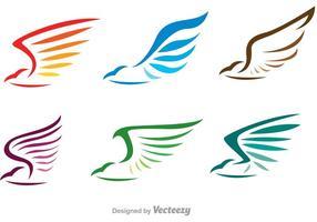 Vettori di logo di falco lineare