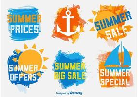 Etichette di vendita estive vettore