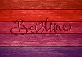 Be Mine In Wood Vector Card