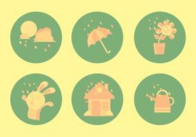 Set di icone doccia primavera
