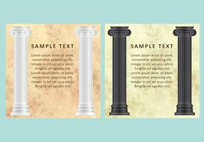 Vettori di marmo e colonne