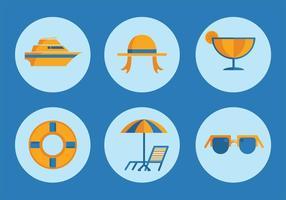 Icone di vettore di vacanza