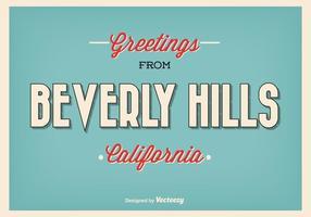 Retro illustrazione di saluto di stile Beverly Hills