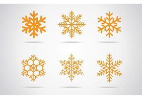 Icona di vettore di fiocchi di neve
