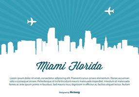 Illustrazione di Skyline di Miami vettore