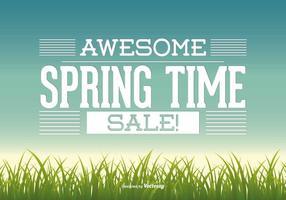 Illustrazione di vendita di primavera vettore
