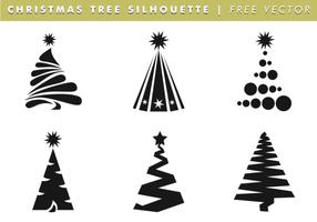 Vettore libero delle siluette dell'albero di Natale