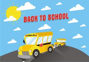 Vettore gratis del fondo dello scuolabus