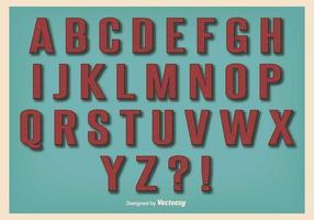 Set di alfabeto stile retrò vintage