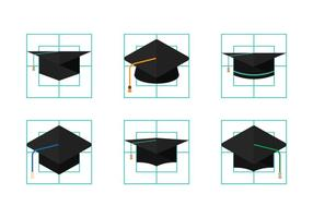 Vettori di cappello laureato