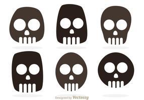 Vettori simbolo del cranio