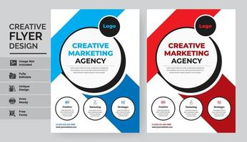 set di progettazione modello flyer marketing aziendale vettore