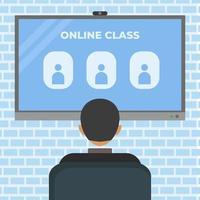 videoconferenza di classe online vettore