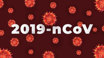 coronavirus rosso covid-19 sullo sfondo