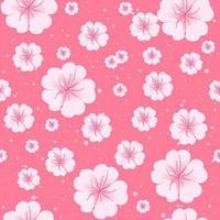 Sakura fiori primaverili in fiore seamless. vettore