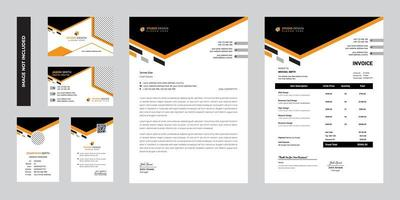 progettazione del modello di cancelleria aziendale business moderno scuro vettore