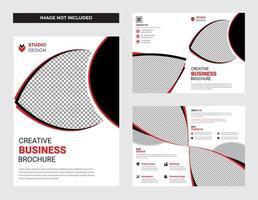 insieme di progettazione del modello dell'aletta di filatoio dell'opuscolo di affari pulito bianco