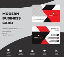 design moderno modello di biglietto da visita