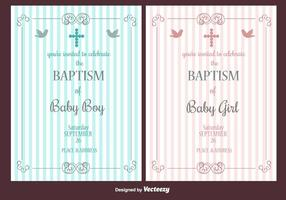 Invito al battesimo vettore