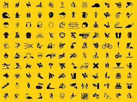 set di simboli di dispositivi di protezione individuale richiesto