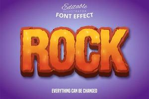 effetto di testo colorato rock vettore