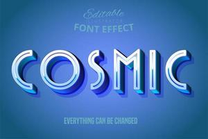 effetto di testo blu cosmico vettore