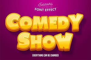 commedia mostra effetto testo