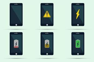 telefono cellulare con icone vettore