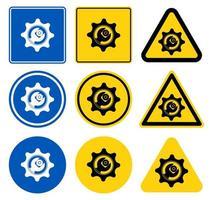 set di icone simbolo strumento di servizio