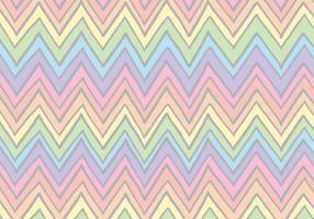 Rainbow Chevron Pattern Vector gratuito