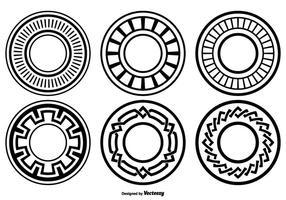 Forme cerchio decorativo vettore