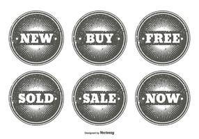 Set di francobolli promozionali stile grunge